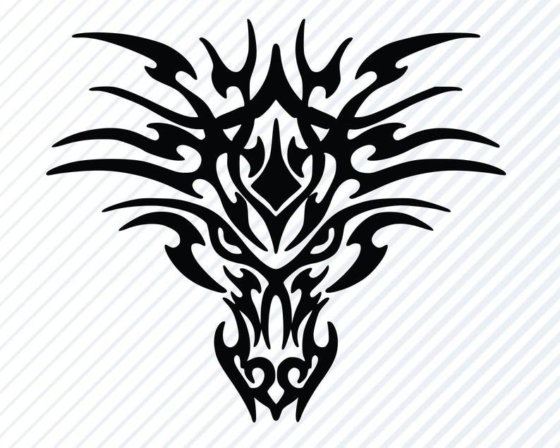 Dragon Head #2 SVG Silhouette.