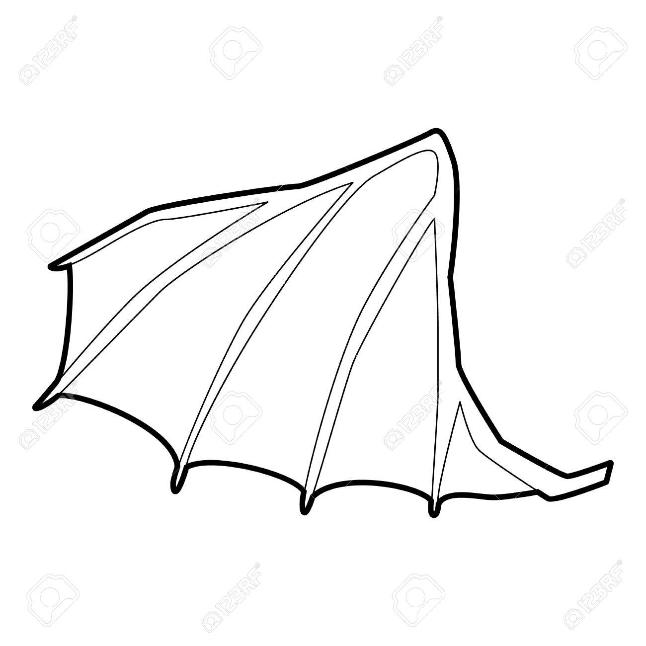 Dragon wing icon, outline style » Clipart Station.