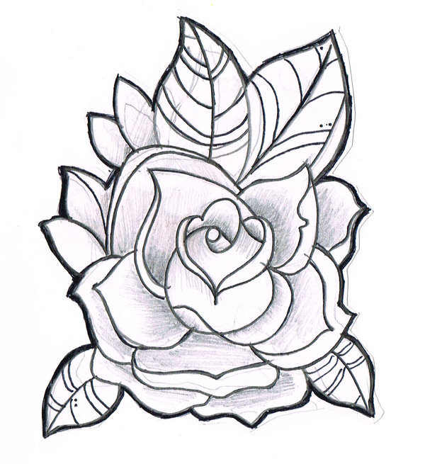 Free Line Drawing Of A Rose, Download Free Clip Art, Free Clip Art.