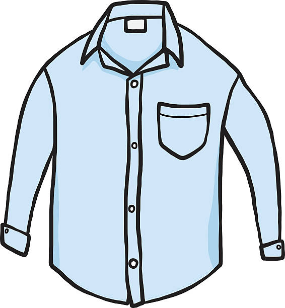 Best White Dress Shirt No People Illustrations, Royalty.