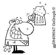Drinking Beer Clip Art.