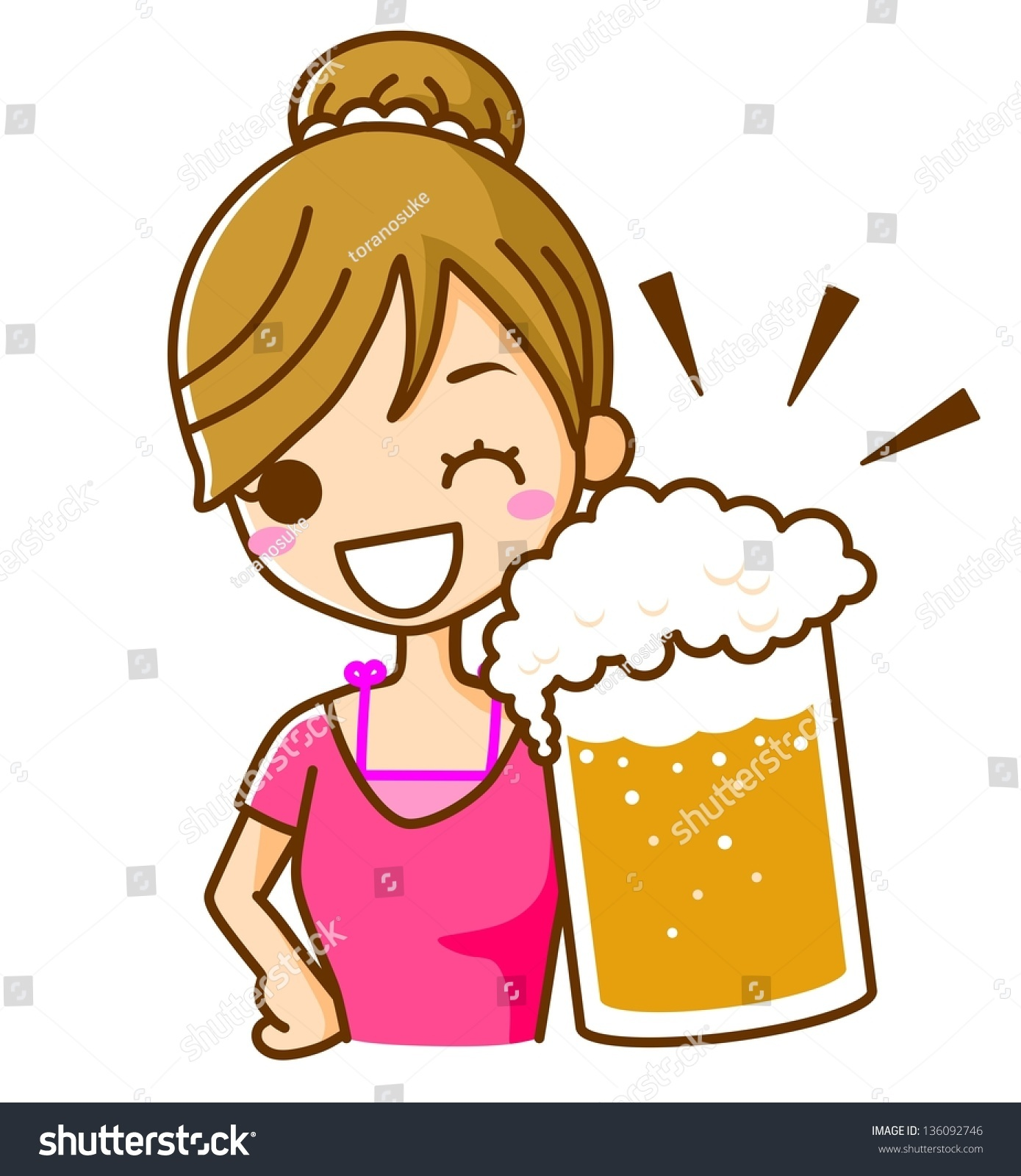Woman Drinking Beer Clipart & Free Clip Art Images #25496.