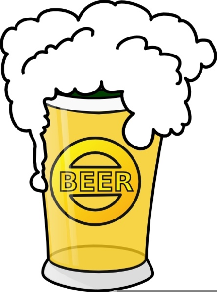 Tax Drinking Beer Clipart.