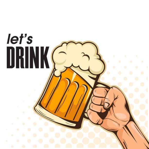 Best Clip Art Of A Man Drinking Beer Illustrations, Royalty.