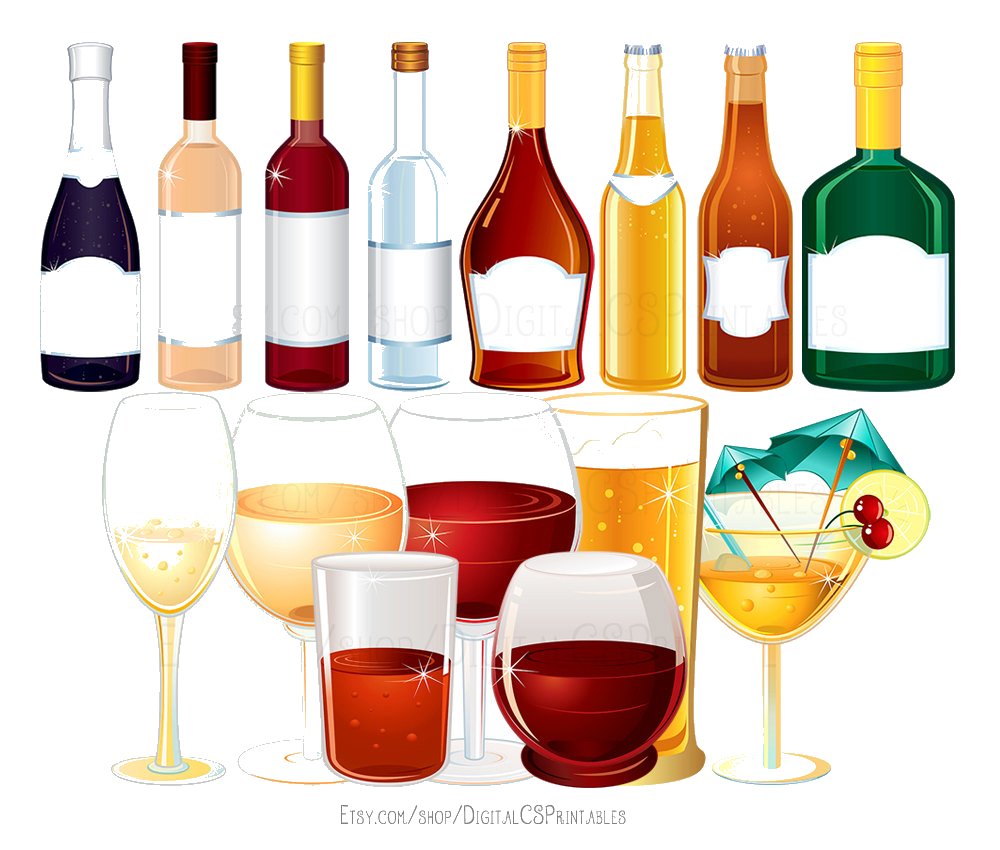 Alcohol Free Alcoholic Drinks Cliparts Clip Art Transparent Png.