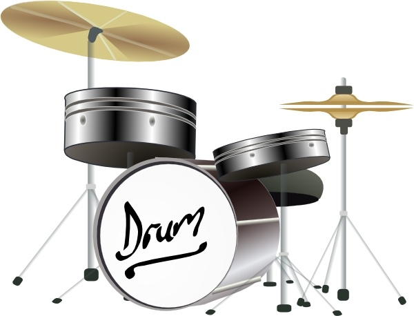 Drum Kit clip art Free vector in Open office drawing svg ( .svg.