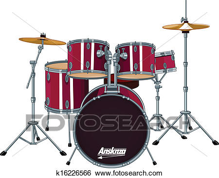 Drum Kit Clip Art.