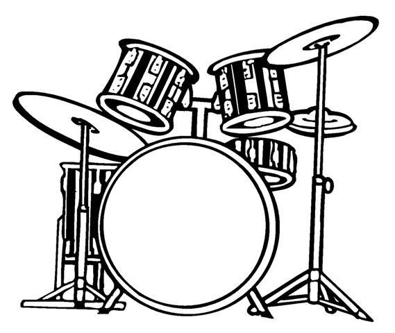 drum set drawing.