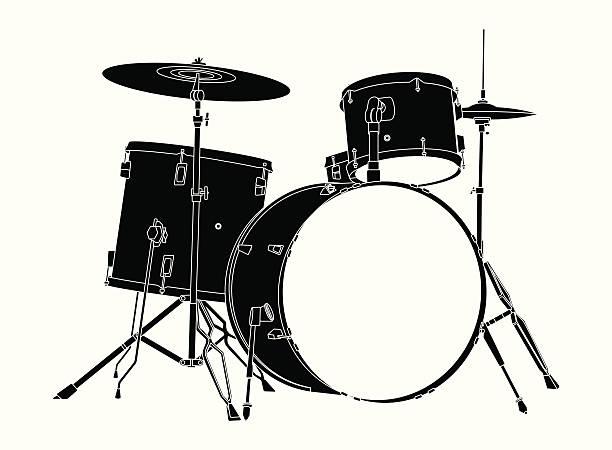 Best Drum Kit Illustrations, Royalty.