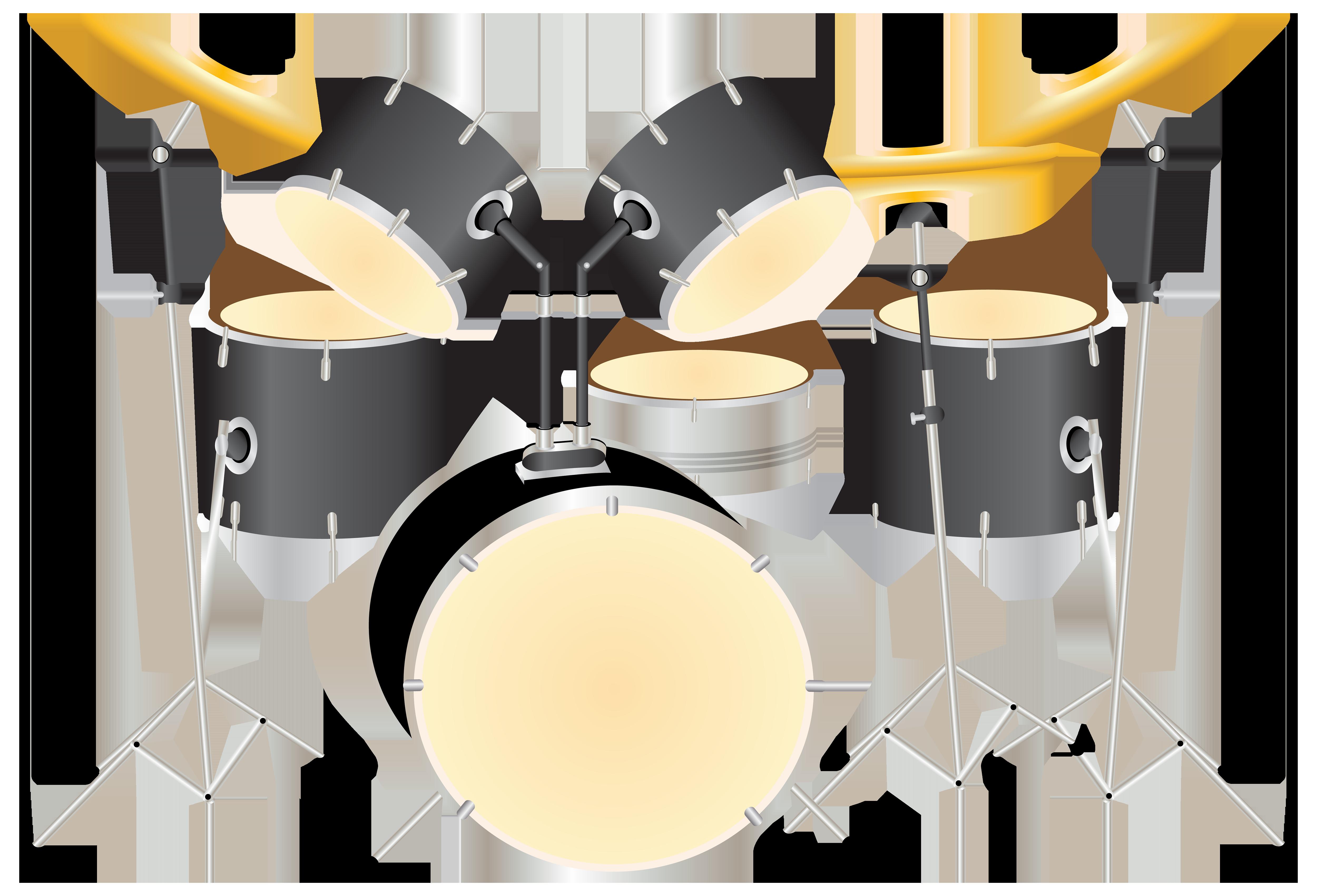 Drum Kit PNG Clipart.