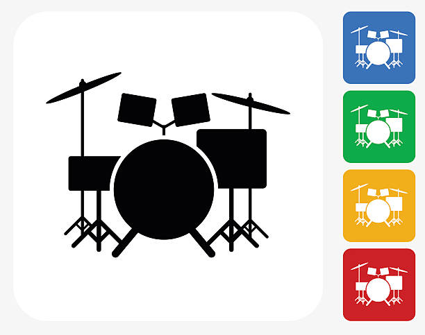 Best Drum Set Illustrations, Royalty.