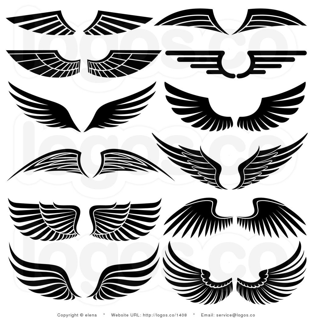 Royalty Free Stock Logo Clipart of Angel Wings.