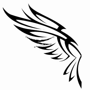 black birds: Clipart Illustrationpair Feathered Eagle Wings Tdoes.