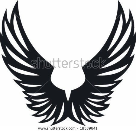 Eagle wings spread clipart black and white 5 » Clipart Station.