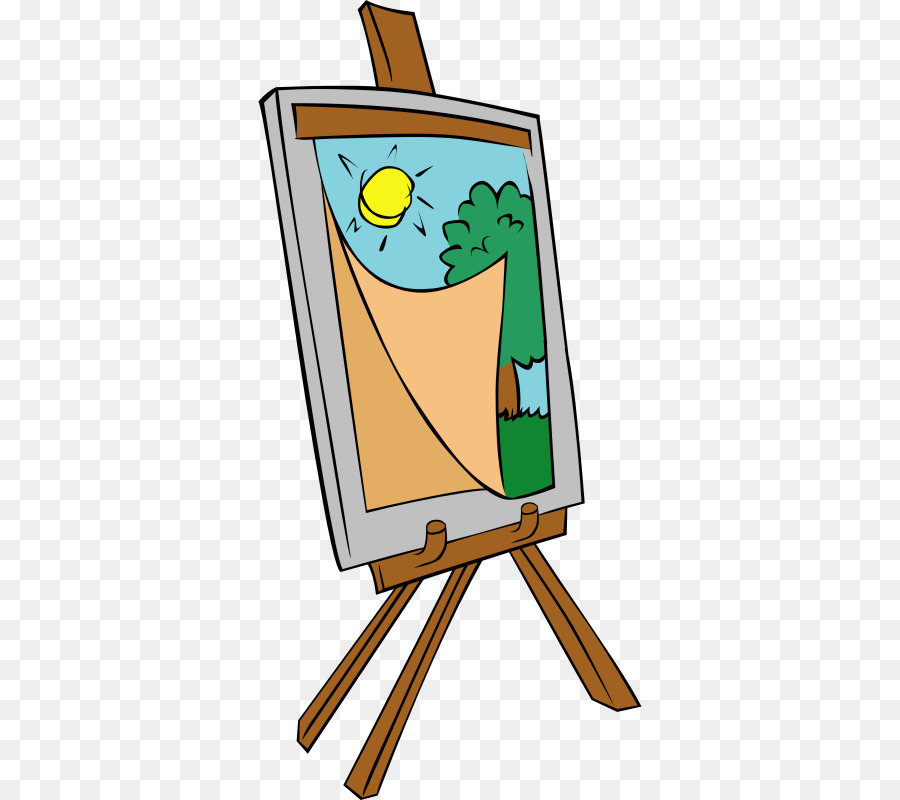 Easel Background clipart.