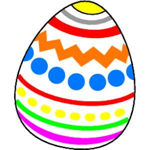 Easter eggs clip art image 2.