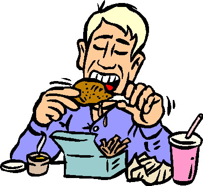 Pictures of people eating lunch clipart image.