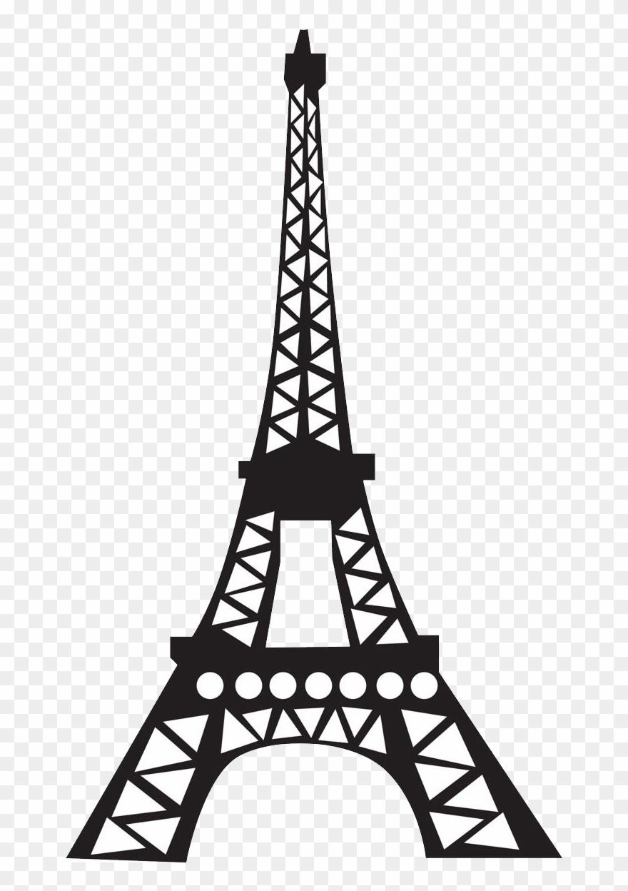 Simple Cartoon Eiffel Tower Clipart (#307305).