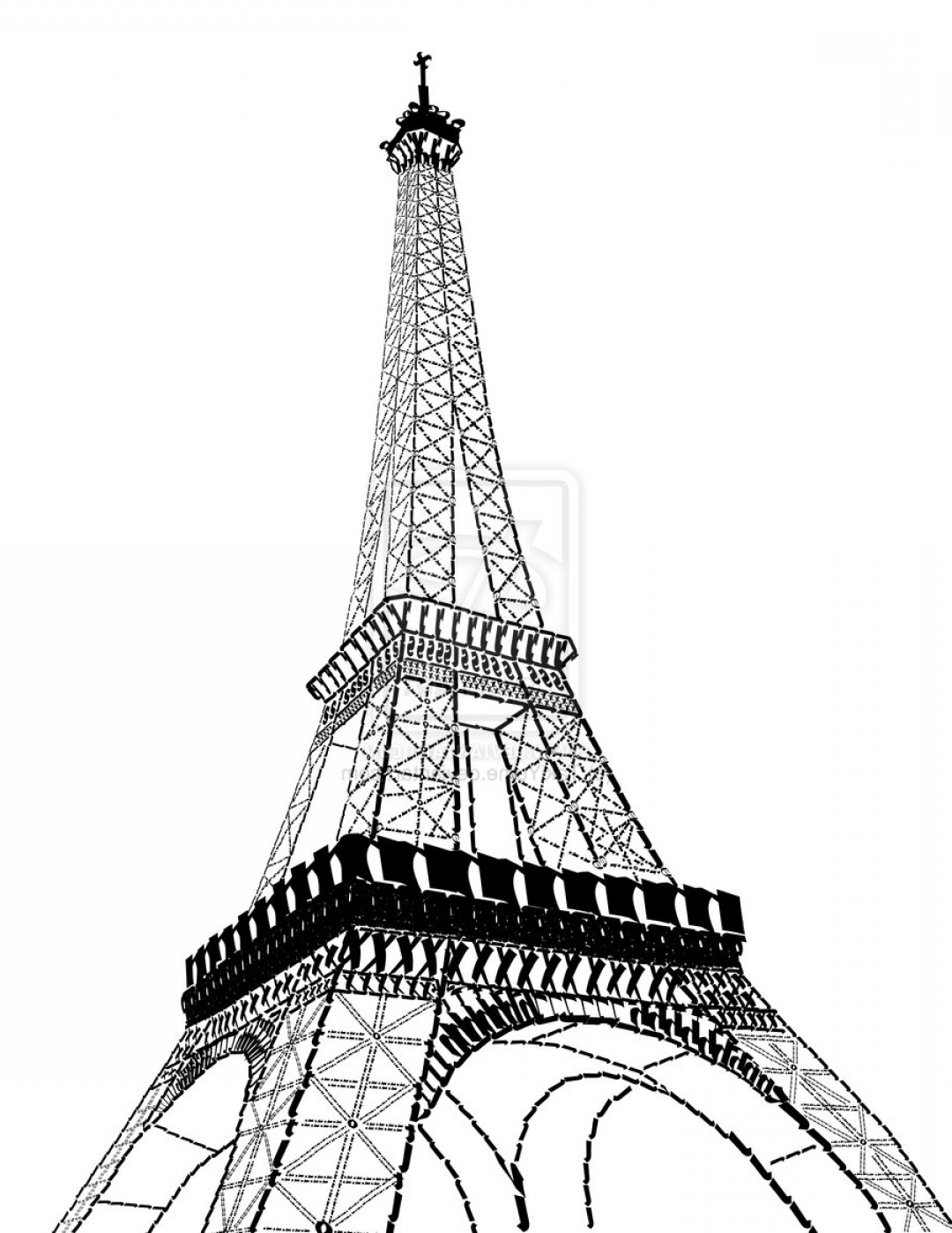 Cartoon Drawing Of Eiffel Tower Eiffel Tower Vector Free Download.