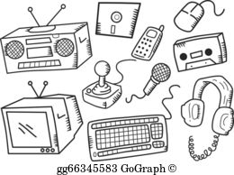 Electronic Devices Clip Art.