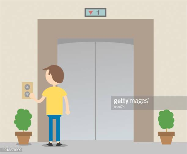 60 Top Many People At The Elevator Cartoon Stock Illustrations, Clip.