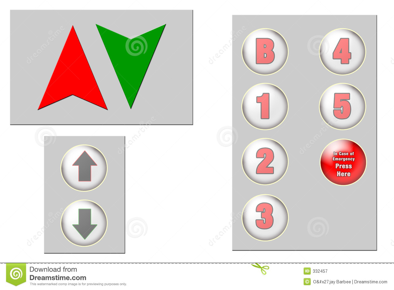 Elevator Clip Art stock illustration. Illustration of arrows.