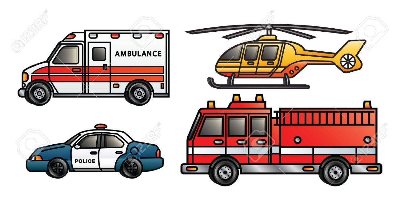 Emergency Vehicles Clipart images.