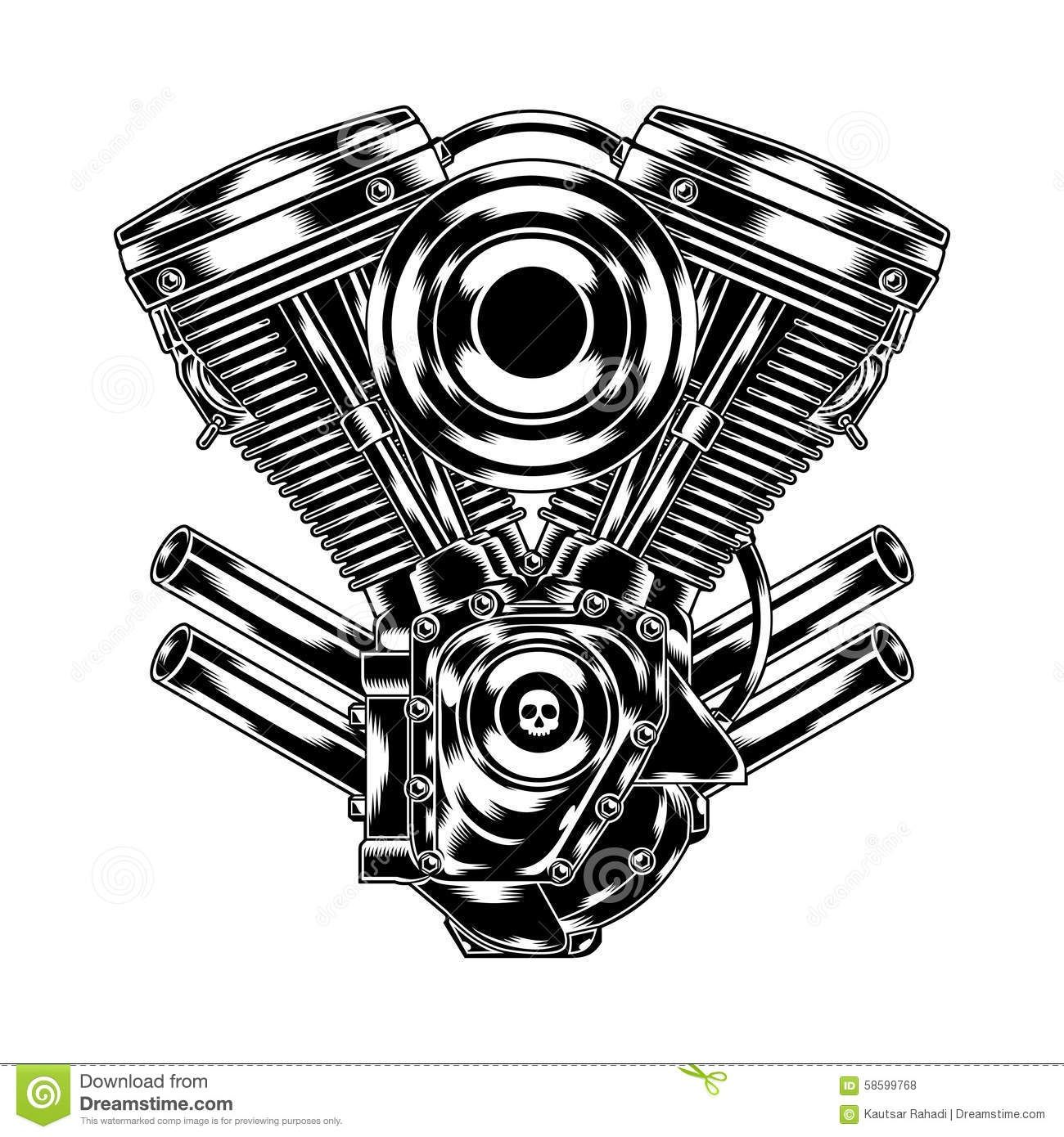 Engine clipart motorcycle #10.