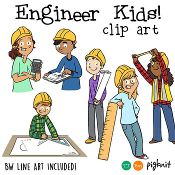 Engineering Kids Clipart.