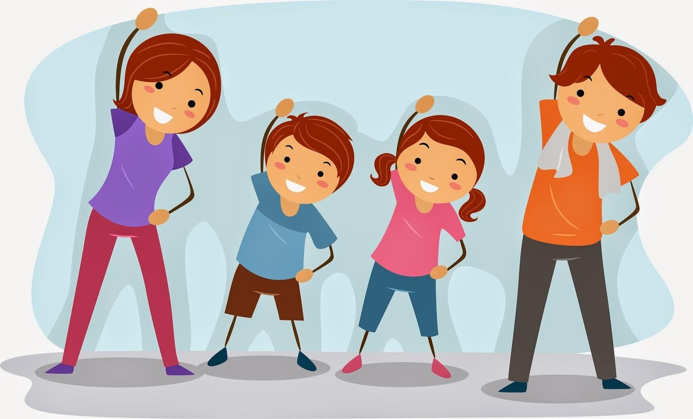 Exercise clipart Awesome Best Fitness Family Exercise Clipart.