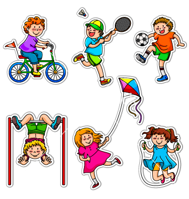 Animated exercise clipart kid.