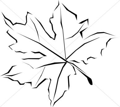 Best Fall Leaves Clip Art Black And White #21703.