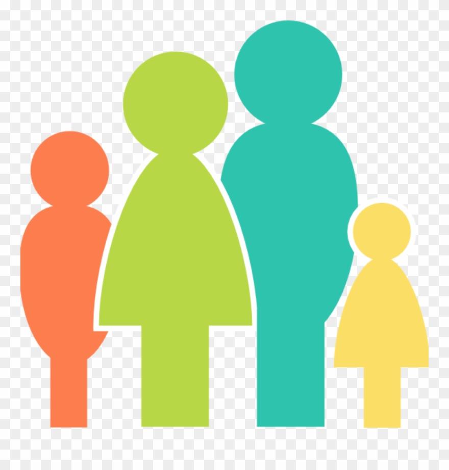 Clipart, Family Clipart Multicolor Family Clip Art.
