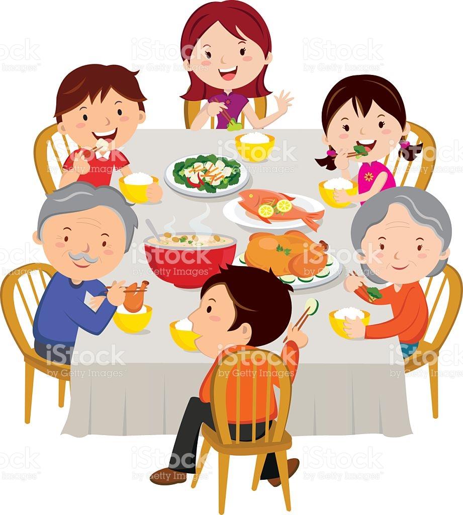 Family dinner clipart 6 » Clipart Station.