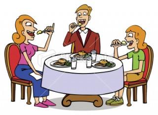 Family Dinner Table Clip Art D.