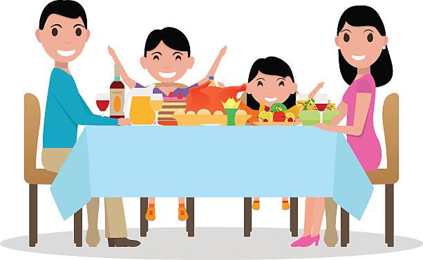 Best Family Dinner Illustrations, Royalty.