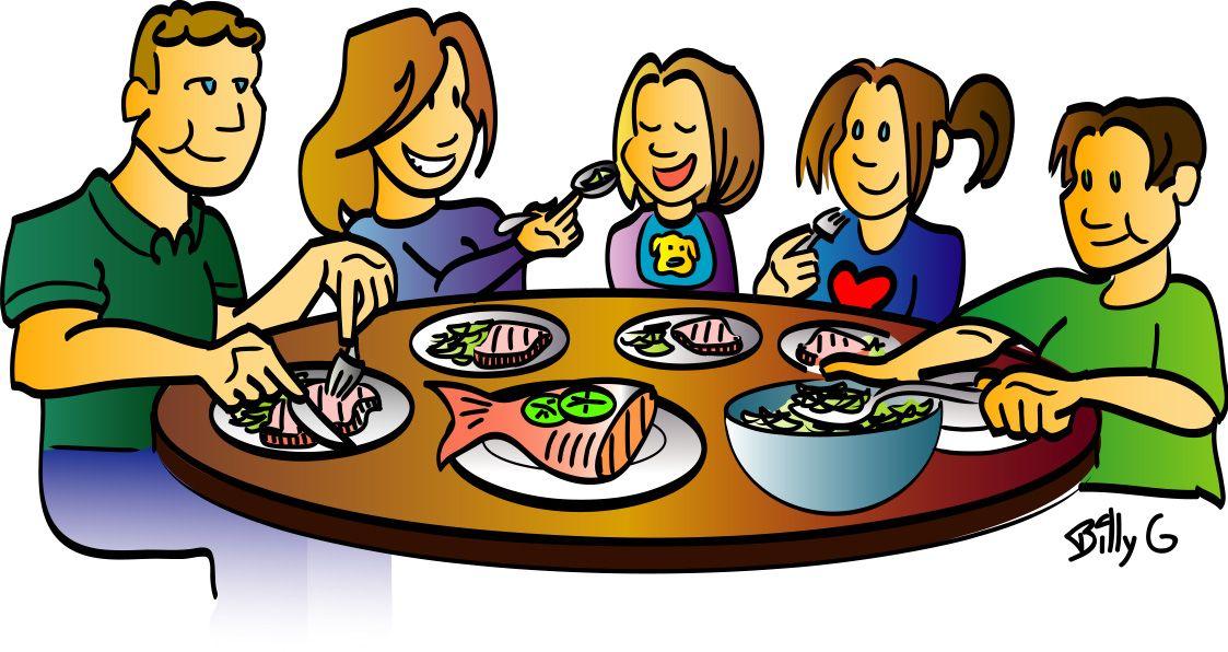 Family Dinner Clipart.