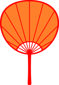 Orange Japanese Fan Clip Art at Clker.com.