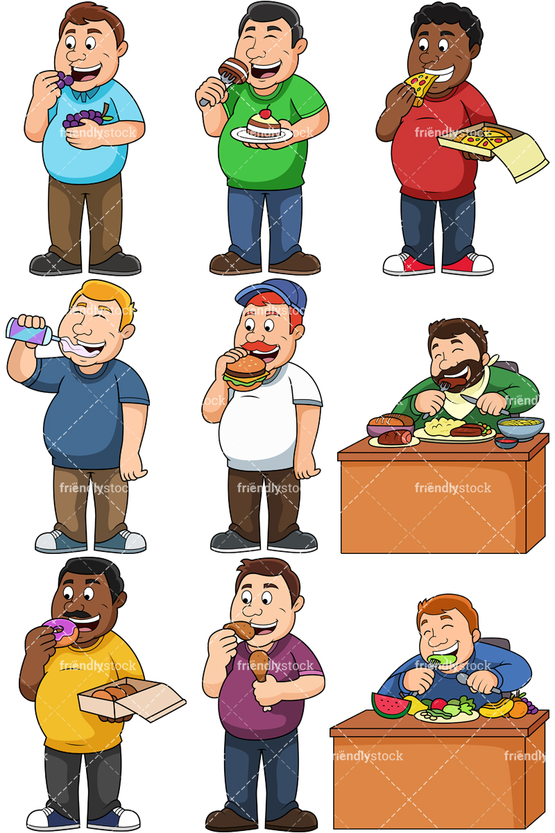 Fat Men Eating Collection.
