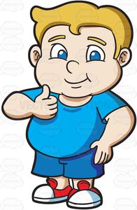 Clipart Fat Person Cartoon.