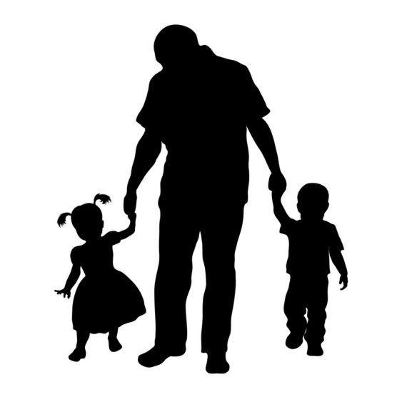 father silhouette clip art.