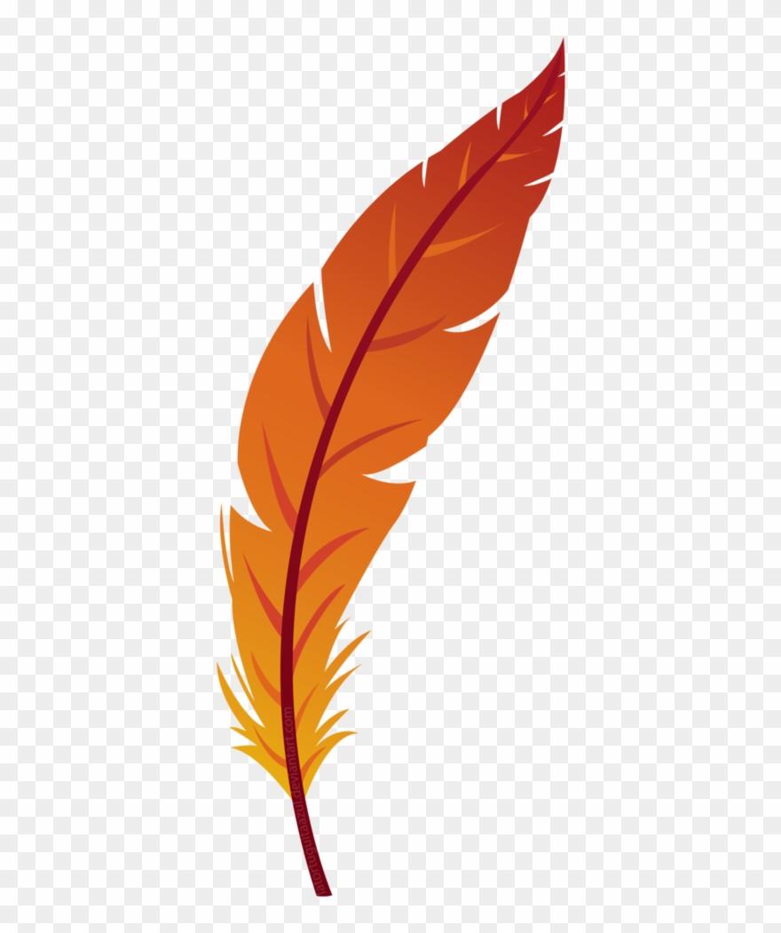 Feather Clipart Orange.