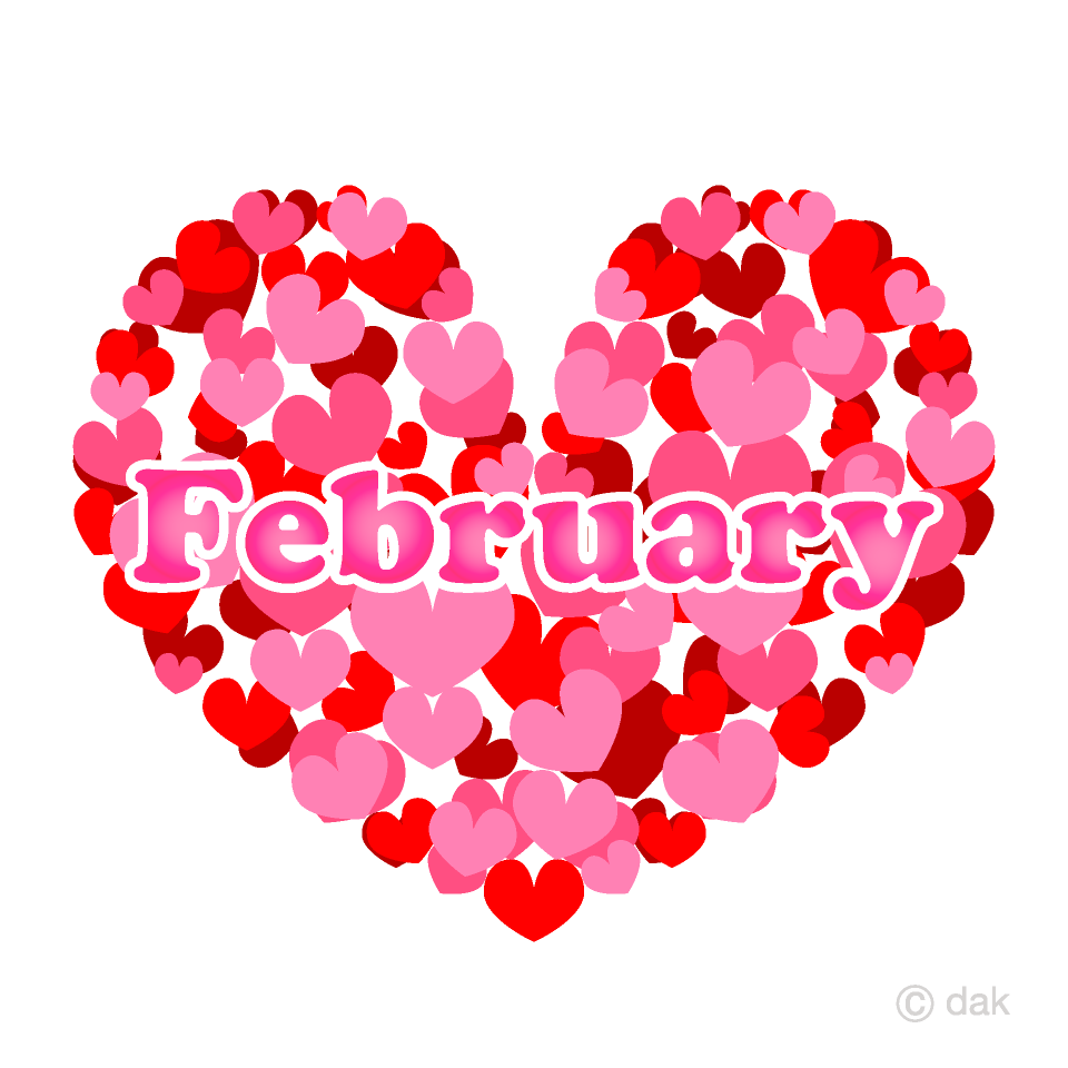 Heart February Clipart Free Picture Illustoon.