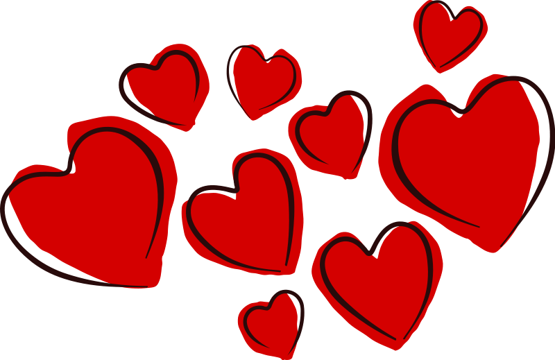 February Clipart Cluster Heart Transparent.
