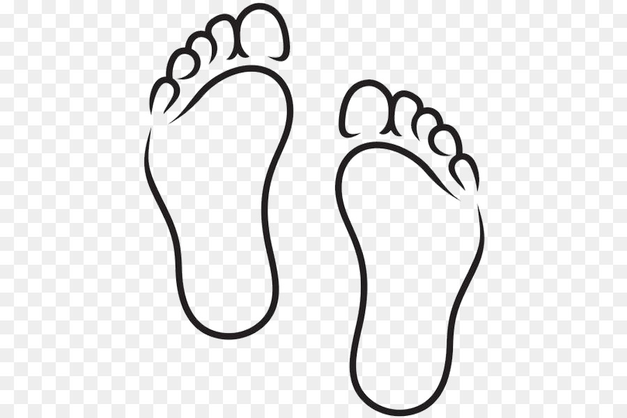Foot Black And White Clip Art.