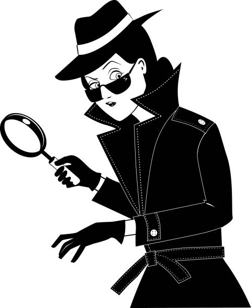 Best Female Detective Illustrations, Royalty.