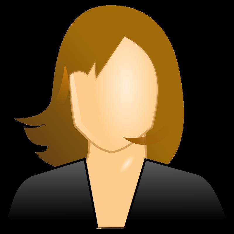 Free Clipart: Female user icon.