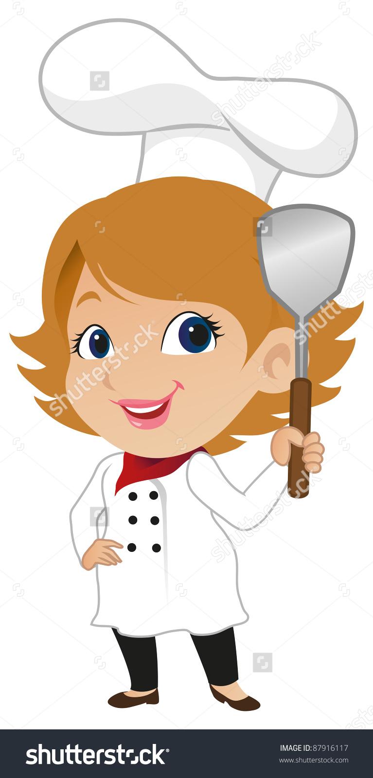 15+ Female Chef Clipart.
