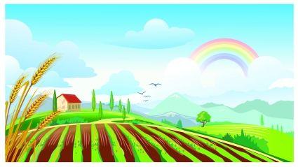 Clipart farm field.