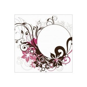 Filigree Circle Clip Art.